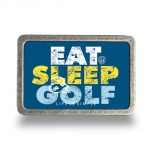 Golf Gürtel (Echtleder) Brown inkl. Buckle EAT SLEEP GOLF